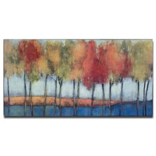<strong>Uttermost</strong> Lollipop Trees Hand Painted Wall Art