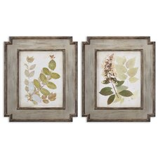 "2 Piece Natures Collage by Grace Feyock Wall Art Set- 29.25""x 25.25"""