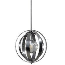 FW Generic Trofarello Silver 1 Light Globe Pendant