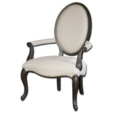 Anne Linen Occasional Arm Chair