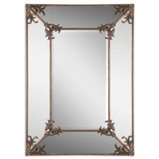 <strong>Uttermost</strong> Ansonia Mirror in Antiqued Gold