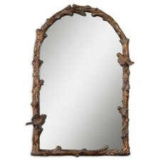 Paza Arch Mirror in Distressed Antiqued Gold