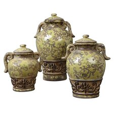 3 Piece Gian Decorative Canister Set