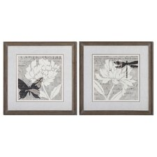 Natural Prints 2 Piece Framed Painting Print Set