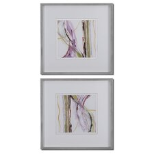 Honeysuckle Rose 2 Piece Framed Painting Print Set