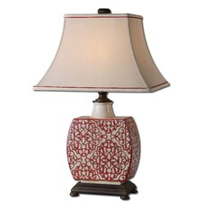 "Lindsa 28.5"" H Table Lamp with Rectangle Shade"