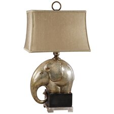 "Abayomi 32"" H Table Lamp with Rectangle Shade"