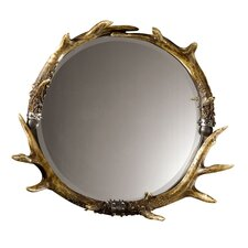 Stag Horn Mirrored Tray in Natural Brown