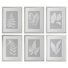 6 Piece Moonlight Ferns Framed Wall Art Set