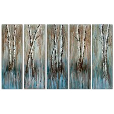 <strong>Uttermost</strong> Birch Family Frameless Art (Set of 5)