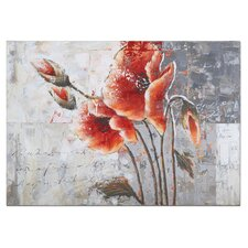 Poetic Flowers Original Painting on Canvas