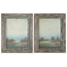 Morning Vistas 2 Piece Framed Original Painting Set