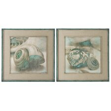 Coastal Gems 2 Piece Framed Original Painting Set