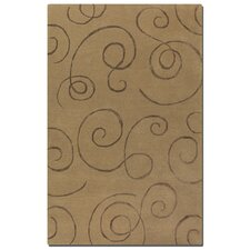 Manhattan Camel Scroll Motifs Rug