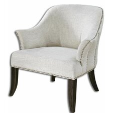 Leisa White Arm Chair