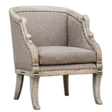<strong>Uttermost</strong> Swaun Hand Carved Arm Chair