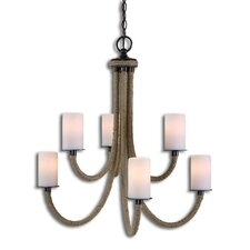 Gironico 6 Light Rope Mini Chandelier