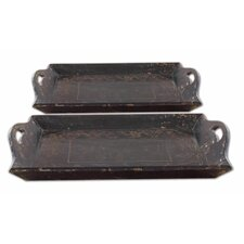 Melani Wood Trays (Set of 2)