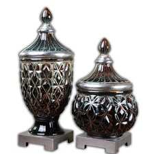Tailor 2 Piece Decorative Urn Set