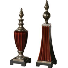 2 Piece Bay Finial Figurine Set