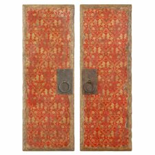 2 Piece Door Panel Wall Décor Set (Set of 2)