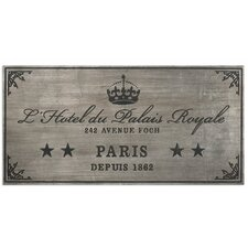 Palais Royale by John Kowalski Textual Plaque
