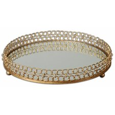 <strong>Uttermost</strong> Dipali Mirrored Round Serving Tray