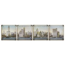 Waterfront New York Wall art (Set of 4)
