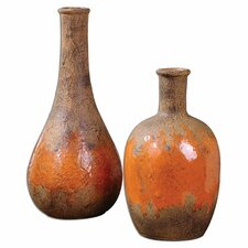 2 Piece Kadam Ceramic Vase Set