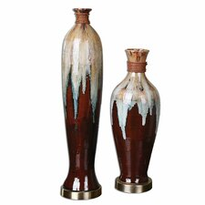2 Piece Aegis Ceramic Vase Set