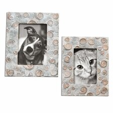 2 Piece Spirula Photo Frames Set