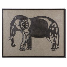Kerala Elephant by Carolyn Kinder Graphic Art Plaque