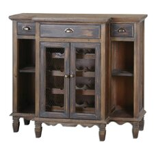 <strong>Uttermost</strong> Suzette Wood Wine Cabinet