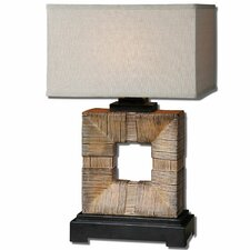 "Mula 27.38"" H Table Lamp with Rectangle Shade"
