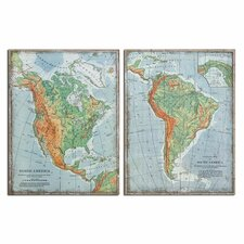 <strong>Uttermost</strong> 2 Piece The Americas Vintage Wall Art Set