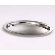 Classic Oval Tray in Polished Stainless Steel