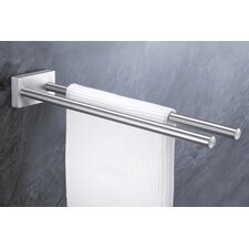 "Bathroom Accessories 18.5"" Wall Mounted Fresco Towel Bar"