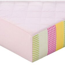 Girls Stripes and Plaids Quilted Changing Pad Cover