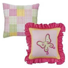 <strong>Bacati</strong> Girls Stripes and Plaids Decorative Pillow (Set of 2)