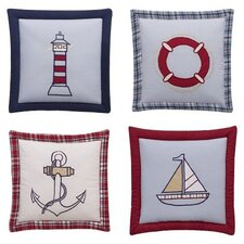 4 Piece Boys Stripes and Plaids Hanging Art Set