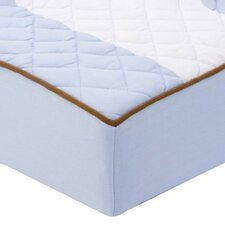 <strong>Bacati</strong> Metro Quilted Changing Pad Cover in Blue and Chocolate