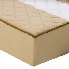 Metro Quilted Changing Pad Cover in Khaki and Chocolate