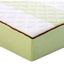 <strong>Bacati</strong> Metro Quilted Changing Pad Cover in Lime and Chocolate