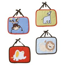 4 Piece ABC123 Hanging Art Set