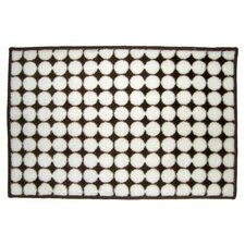 Dots White/Chocolate Area Rug