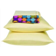 <strong>Bacati</strong> Dots and Stripes 200 Thread Count Spice Sheet Set