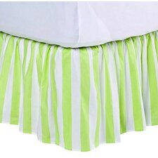 Flower Basket Stripes Bed Skirt