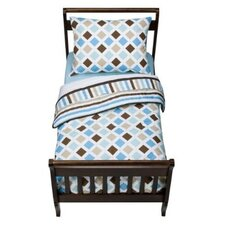<strong>Bacati</strong> Mod Diamonds and Stripes Toddler Bedding Set