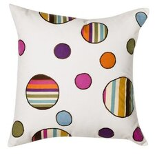 Dots and Stripes Spice Square Decorative Pillow