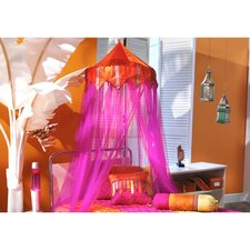 Tangerine Orange and Fuchsia Bed Canopy